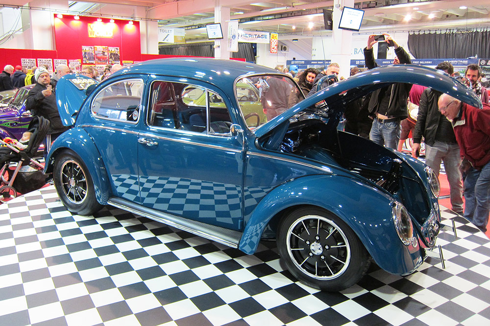 Blue VW Bug at Volksworld show 2018
