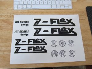 Z-Flex Jay Adams deck decals