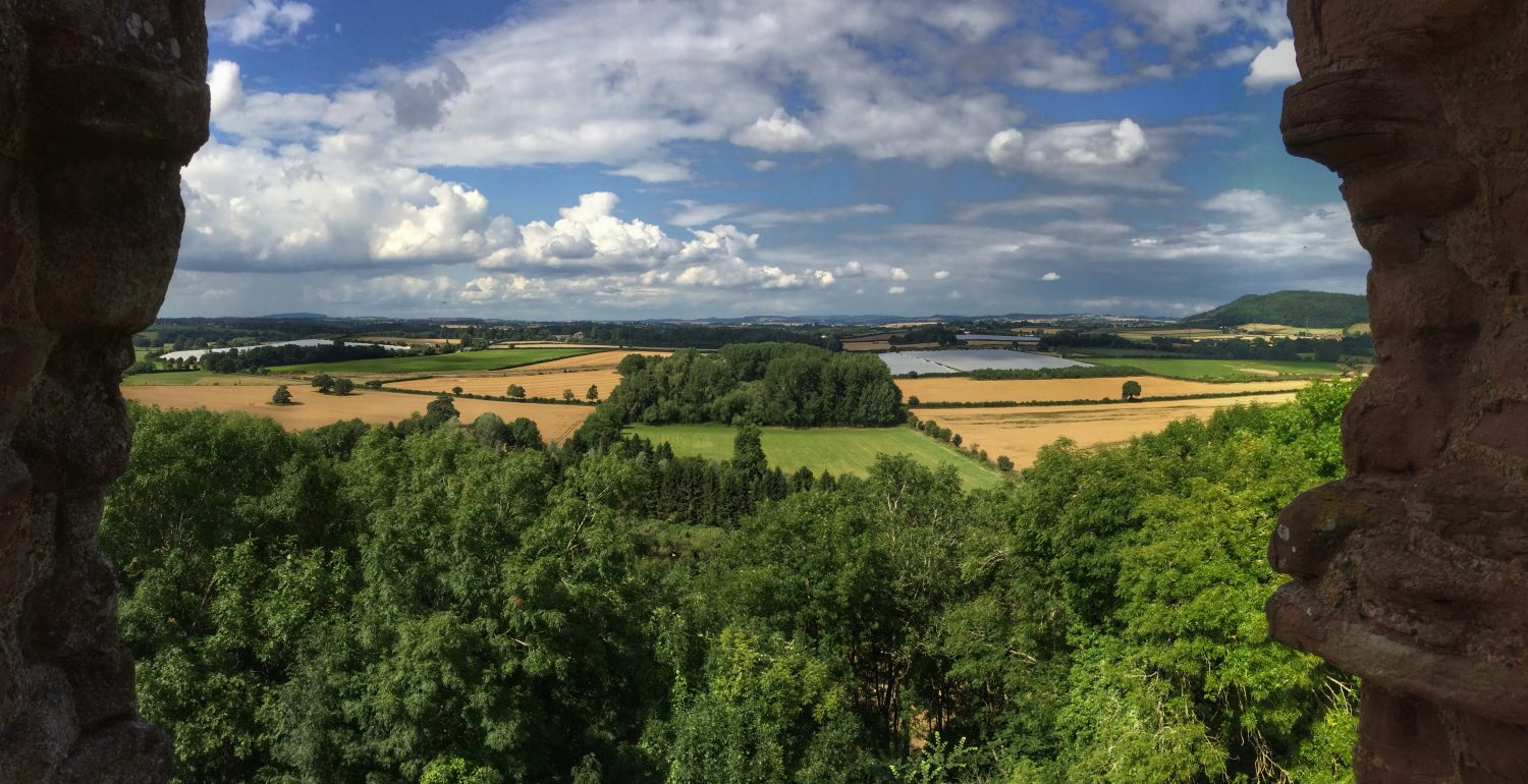 View north from the ruins of Goodrich Castle