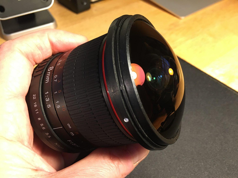 8mm fisheye with lens hood