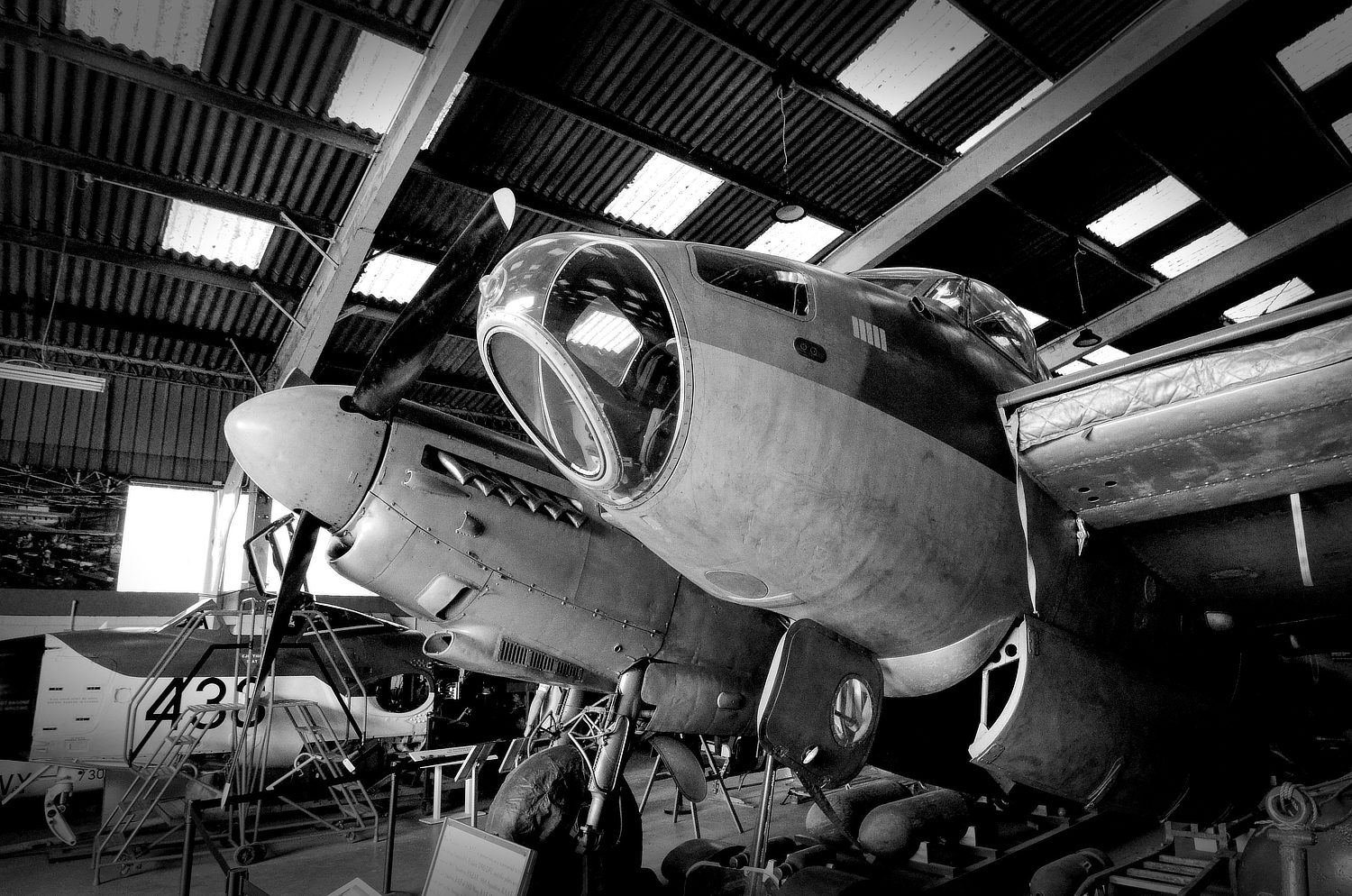 Front of De Havilland Mosquito