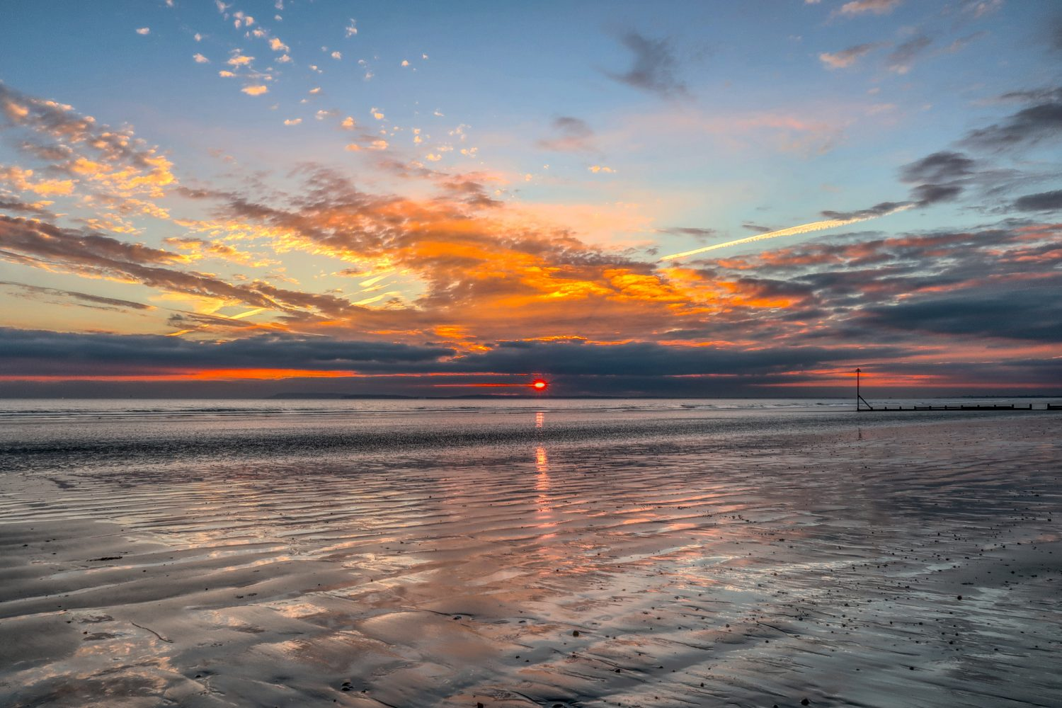 East Wittering beach at sunset