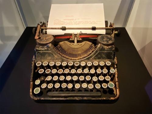 Strummer's typewriter