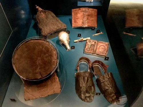 Artefacts found onboard.